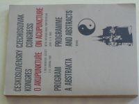 Československý kongres o akupunktuře - Program a abstrakta (1981)