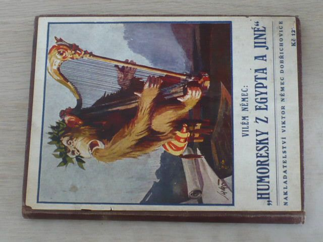 """Němec - ,,Humoresky z Egypta a jiné"""" (1928) podpis autora"""