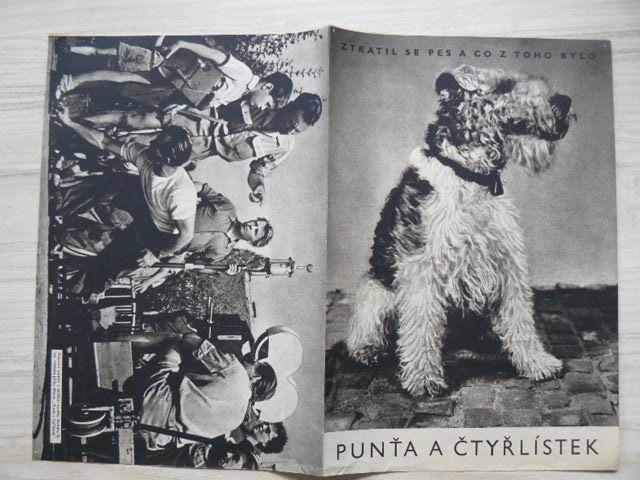 Punťa a čtyřlístek - Ztratil se pes a co z toho bylo - plakát A3, oboustranný