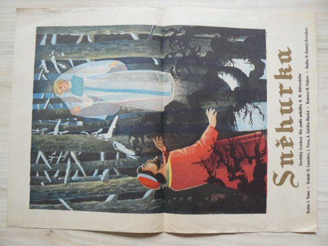 Sněhurka - Sovětský kreslený film podle pohádky A. N. Ostrovského - plakát A3