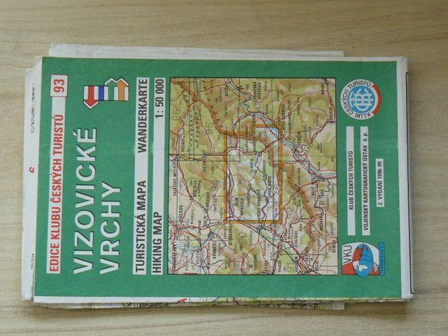 Edice klubu českých turistů 93. - 1 : 50 000 - Vizovické vrchy (1996)