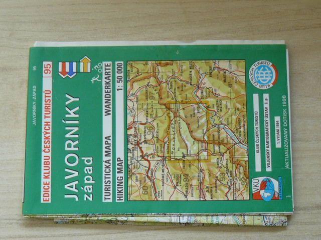 Edice klubu českých turistů 95. - 1 : 50 000 - Javorníky západ (1998)