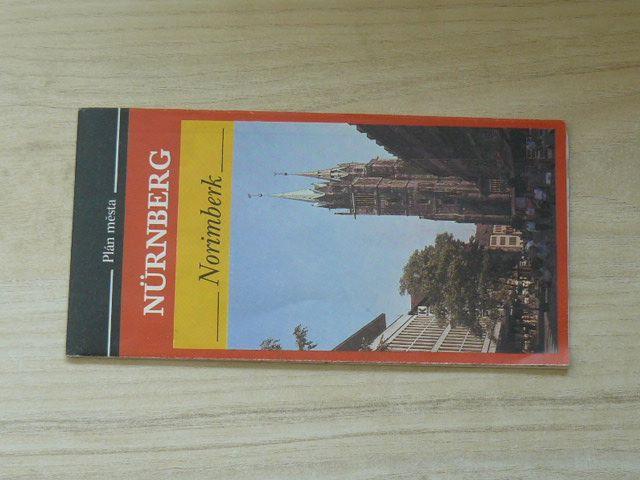 Plán města - 1 : 15 000 - Nürnberg - Norimberk (1990)