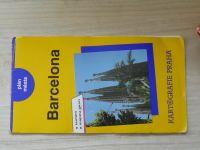 Plán města - Barcelona - s textem a mapou okolí (1992)