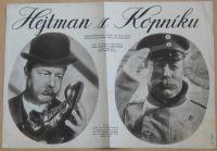 Hejtman z Kopníku - Západoněmecká satira na prušácký dril podle divadelní hry C. Zuckmayera - plakát A3, oboustranný