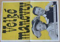 Velké manévry - Francouzská milostná komedie z posádkového městečka - plakát A3, oboustranný