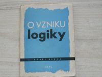Karel Berka - O vzniku logiky (1959)