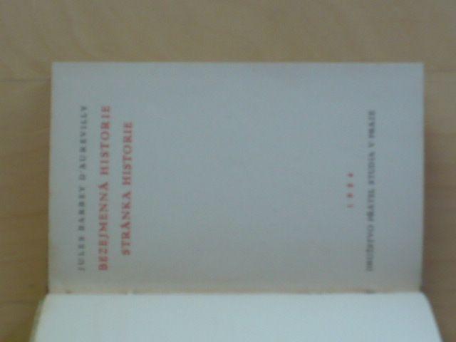 D´Aurevilly - Bezejmenná historie, Stránka historie (1924)