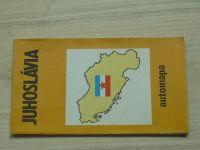 Automapa - 1 : 850 000 - Juhoslávia (1989) + registr sídel, slovensky