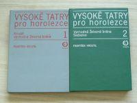 Kroutil - Vysoké Tatry pro horolezce 1,2 (Olympia Praha 1976) 2 knihy