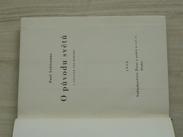 Labérenne - O původu světů - L´ Origine des Mondes (1950)