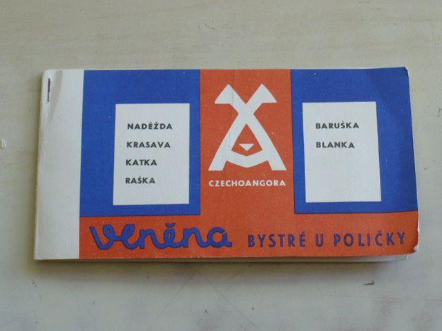 Ručně pletací příze: Naděžda, Krasava, Katka, Raška, Baruška, Blanka (1971)