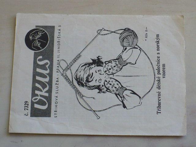 Vkus 7329 - Tříbarevné dětské palečnice s norským vzorem (nedatováno)
