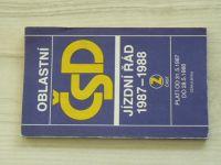 ČSD Oblastní jízdní řád 1987-1988 2. část - Morava