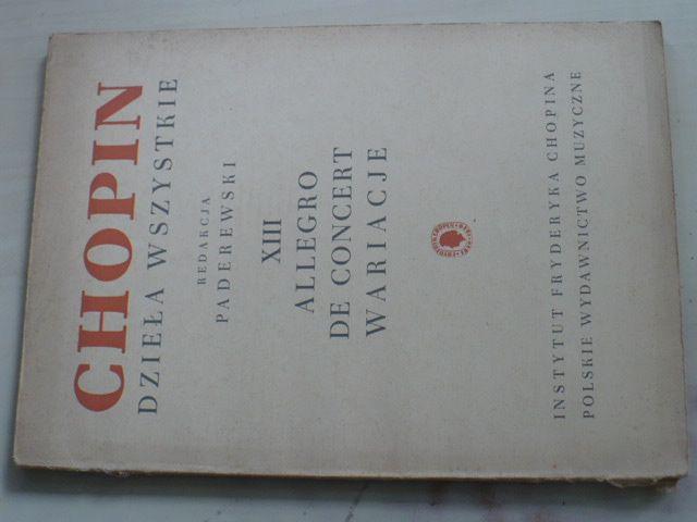 Chopin - Dzieła wszystkie - XIII Allegro de Concert Wariacje (1954)