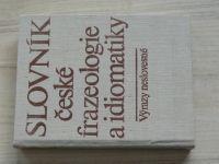 Slovník české frazeologie a idiomatiky - Výrazy neslovesné (1988)