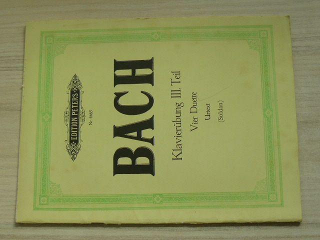 Bach - Klavierubung III. Teil Nr. 4465 (nedatováno) německy
