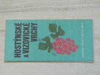 Soubor turistických map 1 : 100 000 - Hostýnské a Vizovické vrchy (1981)