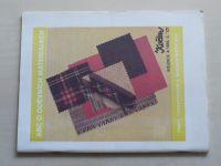 Květen - Ateliér pro služby ženám - Kolekce 4 č. 127 - ABC o oděvních materiálech (1989)