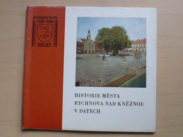 Historie města Rychnova nad Kněžnou v datech (1988)